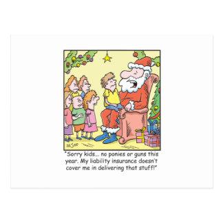 Seguro del dibujo animado del navidad para Papá Tarjeta Postal