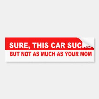 Seguro, este coche chupa etiqueta de parachoque