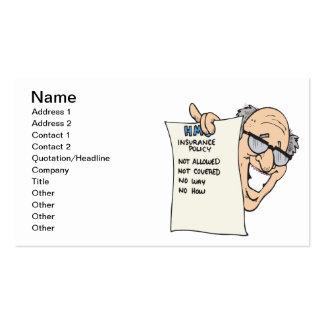 Seguro médico plantillas de tarjetas personales