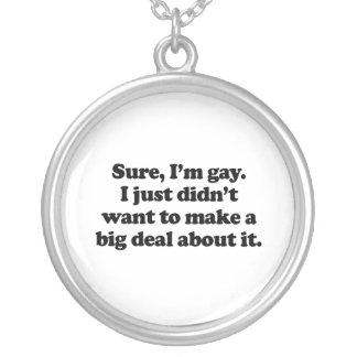 Seguro, soy el gay .png pendientes personalizados