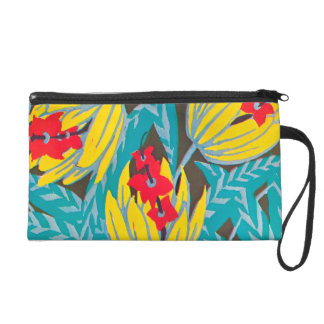 Seguy Floral Art Deco Pattern Wristlet Purse