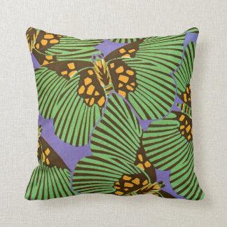 Séguy's Art Deco Butterflies Throw Pillow