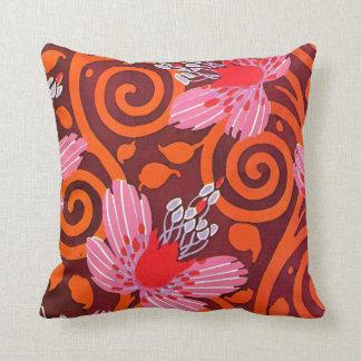 Séguy's Pink Flowers Throw Pillow