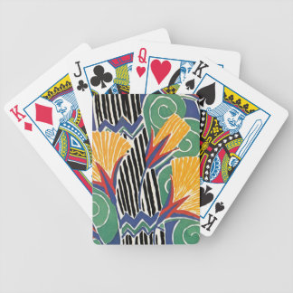 Seguy's Art Deco Golden Flowers Bicycle Playing Cards