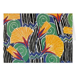 Seguy's Art Deco Golden Flowers - Card