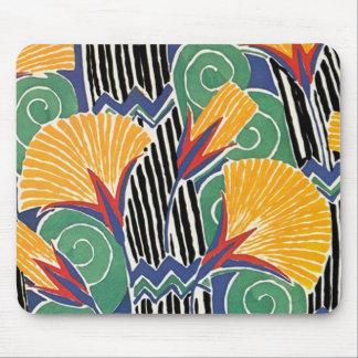 Seguy's Art Deco Golden Flowers - Mousepad
