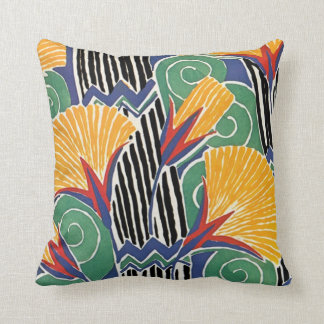 Seguy's Art Deco Golden Flowers Pillow