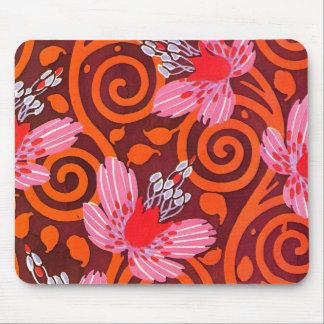 Seguy's Art Deco Pink Flowers - Mousepad