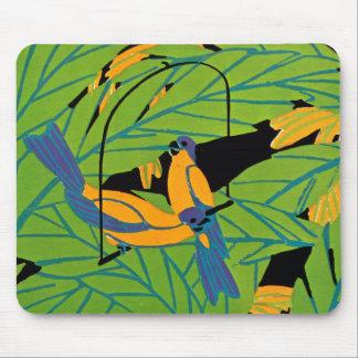Seguy's Art Deco Tropical Birds Mouse Pad