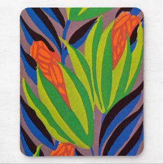 Seguy's Art Deco Tropical Flowers Mouse Pad