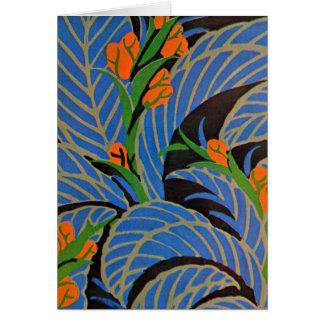 Seguy's Art Deco Tropical Night - Card