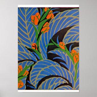 Seguy's Art Deco Tropical Night – Print