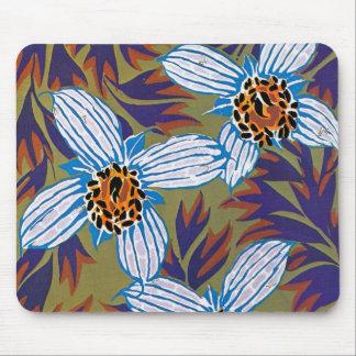 Seguy's Art Deco White Flower - Mousepad