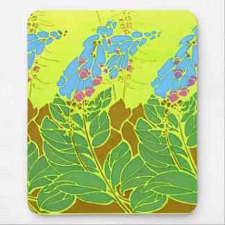 Seguy's Vintage Blue Flower Design Mouse Pad