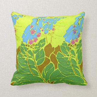 Seguy's Vintage Blue Flower Design Throw Pillow