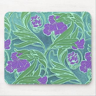 Seguy's Vintage Purple Flower Design Mouse Pad