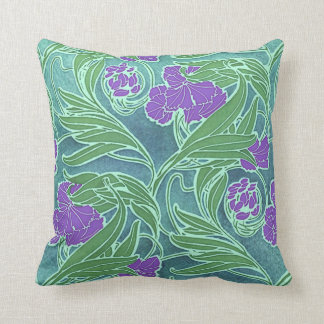 Seguy's Vintage Purple Flower Design Throw Pillow