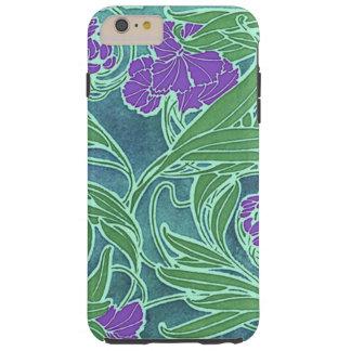 Seguy's Vintage Purple Flower Design Tough iPhone 6 Plus Case