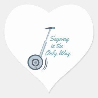 Segway Pegatina En Forma De Corazón