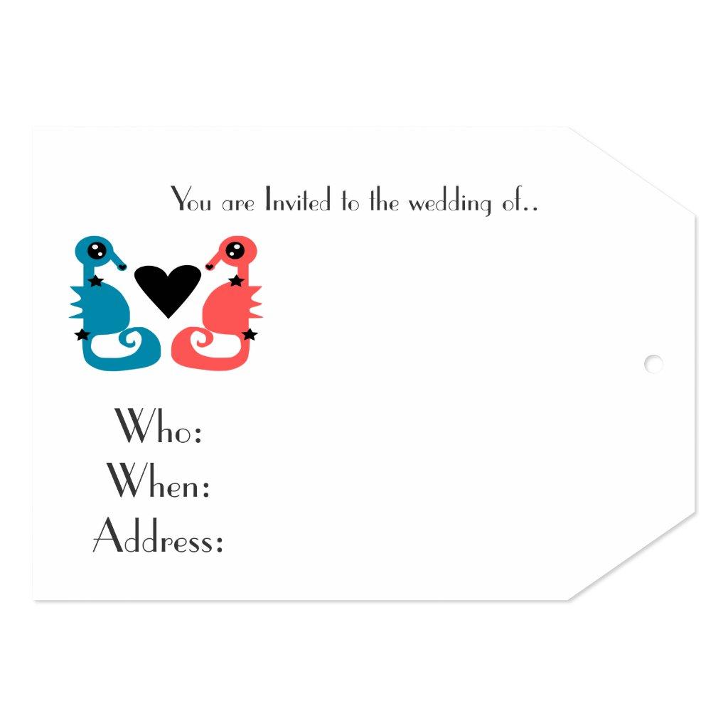 Sehorses of Love Wedding invites 1.1