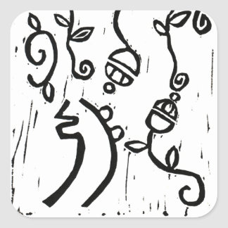 Sei Hei Ki Monoprint Square Sticker