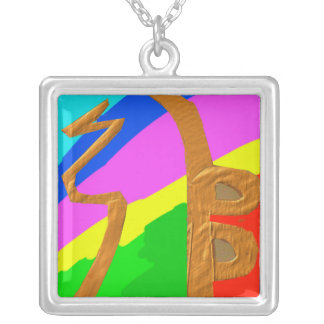 SEI HEI KI - símbolo de SAYHAYKEY Reiki Colgante Cuadrado
