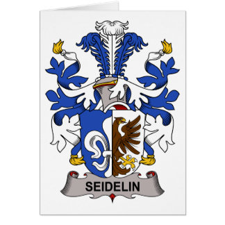 Seidelin Family Crest Greeting Cards