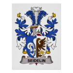 Seidelin Family Crest Posters