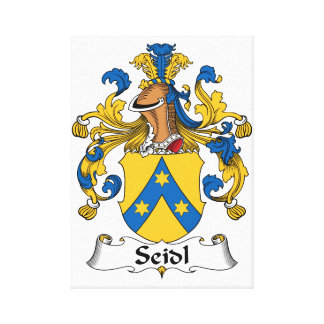 Seidl Family Crest Stretched Canvas Prints