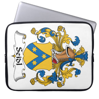Seidl Family Crest Laptop Computer Sleeve