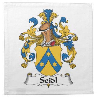 Seidl Family Crest Cloth Napkins