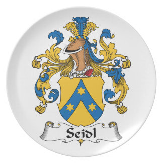 Seidl Family Crest Party Plates