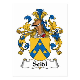 Seidl Family Crest Postcard