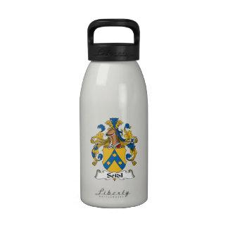 Seidl Family Crest Reusable Water Bottles