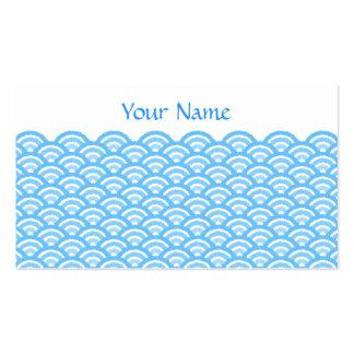 seigaiha (blue01) business card templates