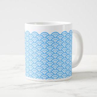 seigaiha(blue01) large coffee mug
