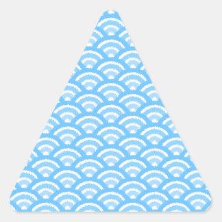 seigaiha (blue01) triangle sticker