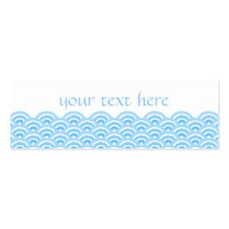 seigaiha (blue02) business card templates