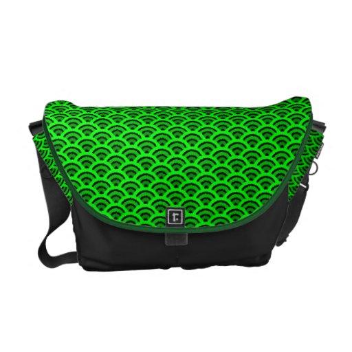 seigaiha(green) courier bag