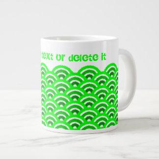 seigaiha(green) large coffee mug