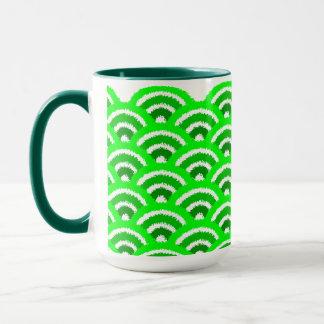 seigaiha (green) mug