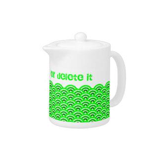 seigaiha(green) teapot