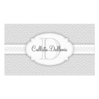 Seigaiha (Grey) Custom Business Card