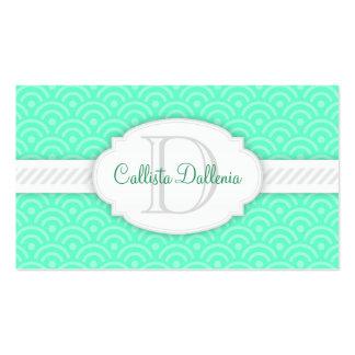 Seigaiha (Mint) Custom Business Card