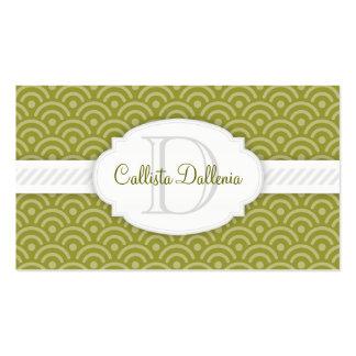 Seigaiha (Olive) Custom Business Card