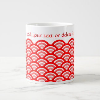 seigaiha(red) giant coffee mug