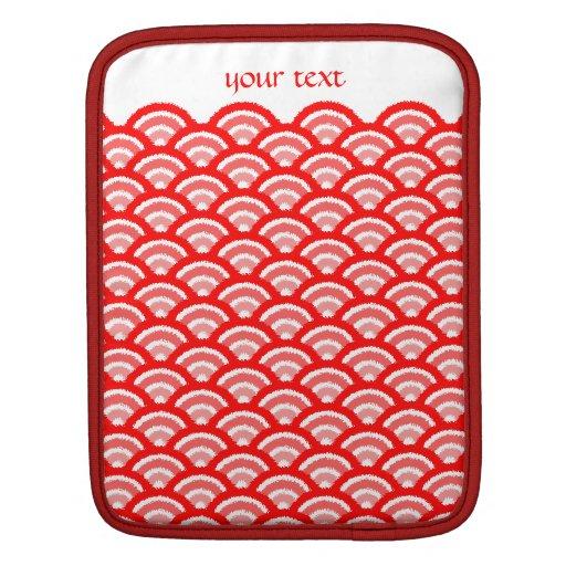 seigaiha (rojo) funda para iPads