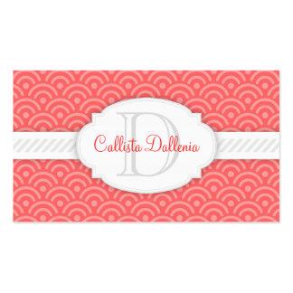 Seigaiha (Salmon) Custom Business Card
