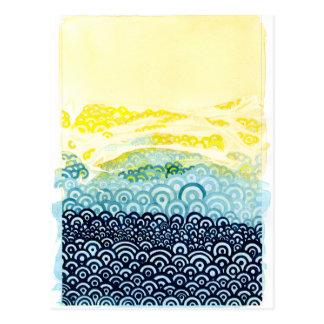 Seigaiha Series - Embrace Postcard