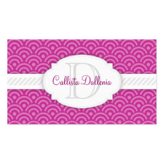 Seigaiha (Thistle) Custom Business Card